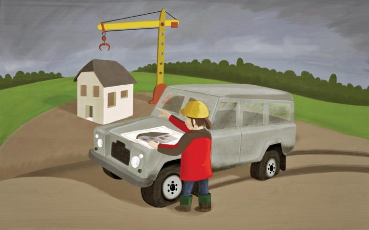 The construction engineer (La aparejadora). Ilustración para el epígrafe 5.4, «Doble Jornada y Doble Presencia».