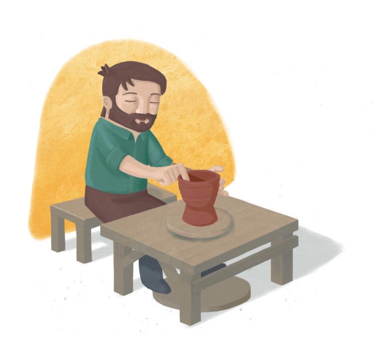 Dando forma. Ilustración para el módulo 1, «Dando forma»