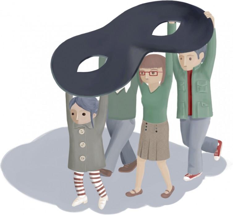 El grupo. Ilustración para el epígrafe 4.5, «El papel del grupo como entidad diferente a la suma de las partes que la componen».